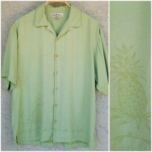 Tommy Bahama Lime Pineapple Print Silk Button Down